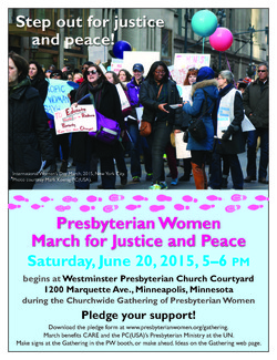 Flyer for march for peace and justice